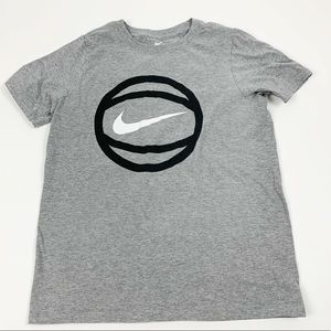 Nike Gray Graphic Basketball Short Sleeve Tshirt